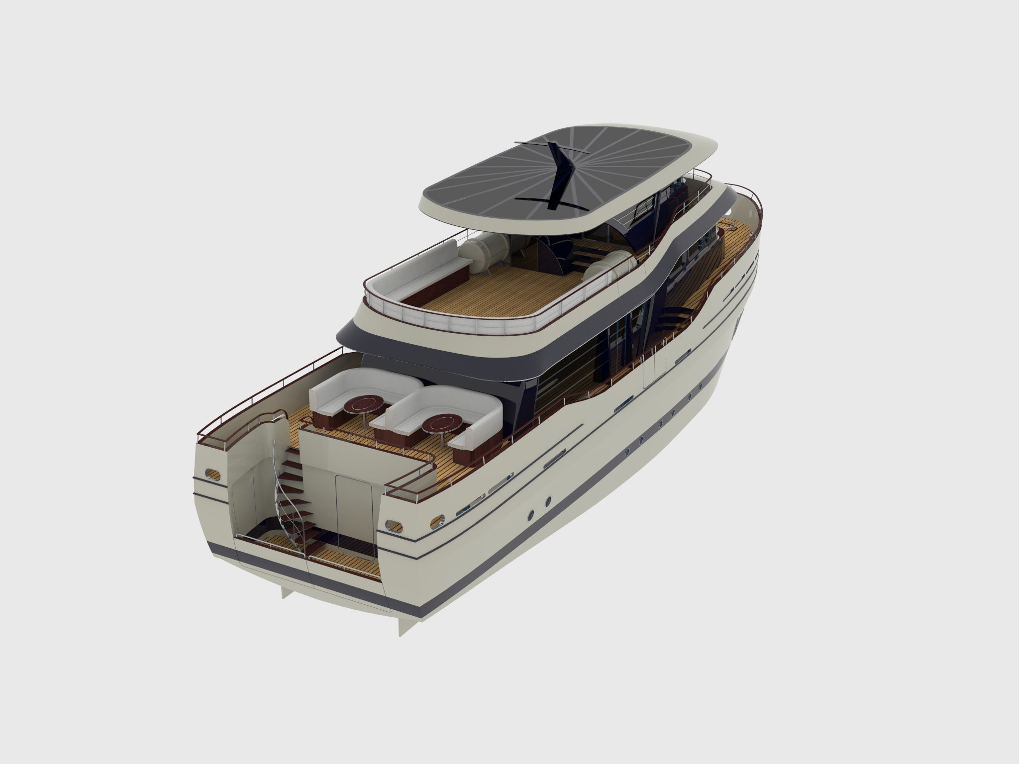 24m fishing motor boat - perspective view 5