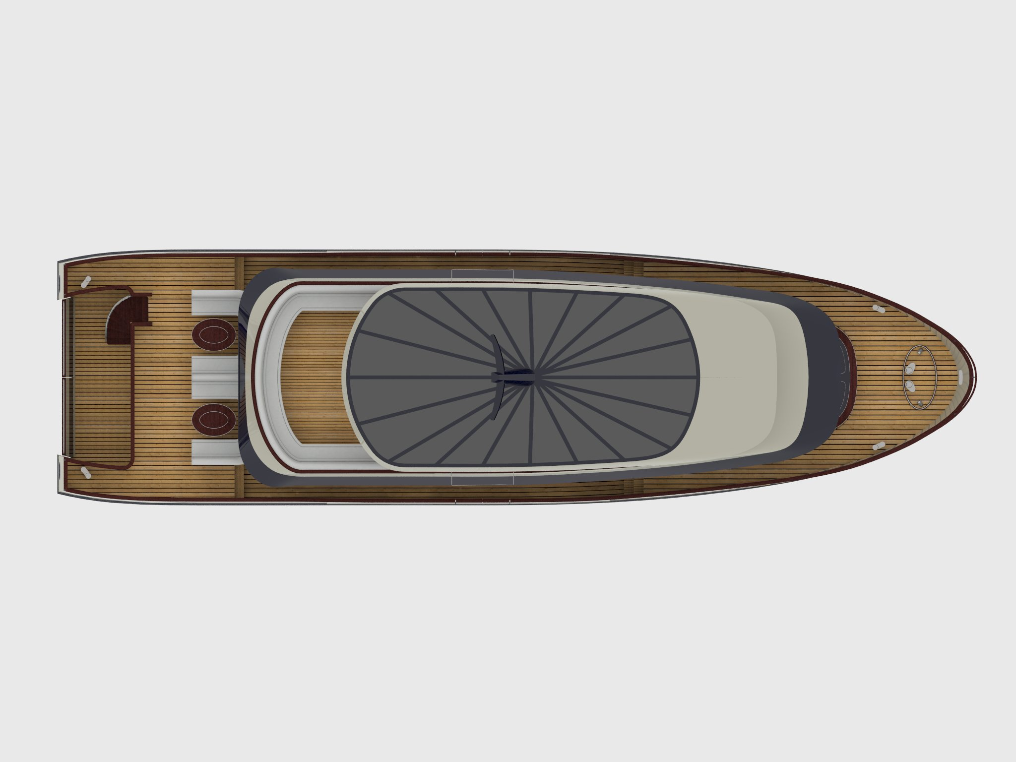 24m fishing motor boat - top view